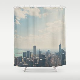 Looking down on the city ... Shower Curtain