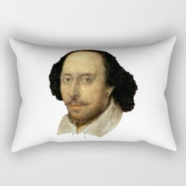 William Shakespeare: The Head of English Theatre Rectangular Pillow