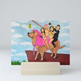 Riding Durte: Living On The Edge Mini Art Print