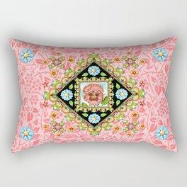 Pink Pansy Cottage Rectangular Pillow