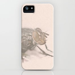The Fly - Movie poster from David Cronenberg's classic horror film with Jeff Goldblum iPhone Case