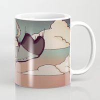skyfall Mugs featuring SkyFall by Bright Raven Designs