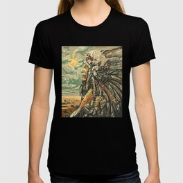 native american portrait T-shirt