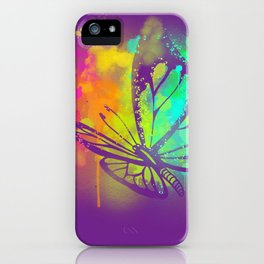Spray Paint Butterfly iPhone Case