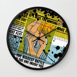 The biggest Battle is the one inside you (Color) Wall Clock