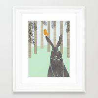 rabbit Framed Art Prints featuring Rabbit by Dream Of Forest