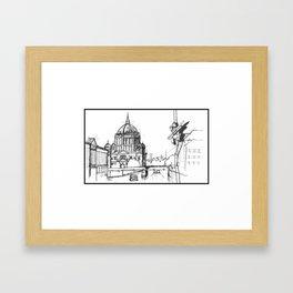 Sketching  Framed Art Print