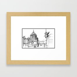 Sketching  Framed Art Print