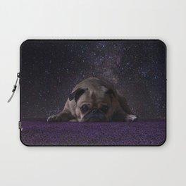 Flower Field Pug Laptop Sleeve