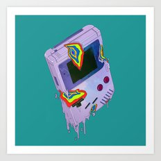 Gameboy Melt Art Print