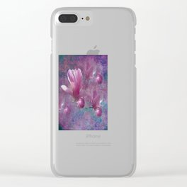 MAGNOLIA BLOSSOMS Clear iPhone Case