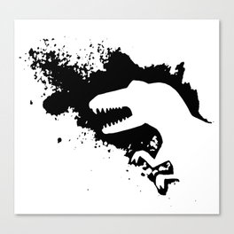 T-Rex Splash Canvas Print