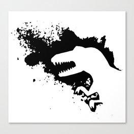 T-Rex Splash Canvas Print