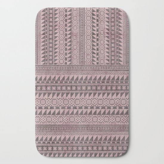 triangle kilim in pale pink bath mat by mpzstudio society6