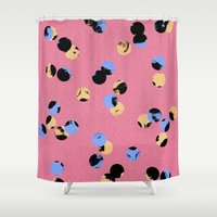 dot Shower Curtains featuring dot dot by cardboardcities