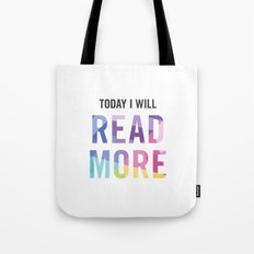 New Year's Resolution - TODAY I WILL READ MORE Tote Bag