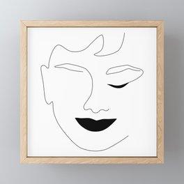 Happy Audrey Framed Mini Art Print