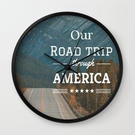 American Road Trip Wall Clock