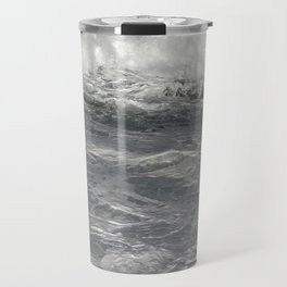 Roiling in Almost Black and White Travel Mug