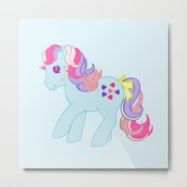 g1 my little pony Sweet Stuff Metal Print