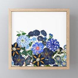 Vintage & Shabby Chic - Blue Flower Summer Meadow Framed Mini Art Print