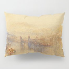 "J.M.W. Turner ""Lucerne from the Lake"" Pillow Sham"