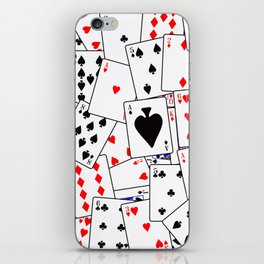 Random Playing Card Background iPhone Skin