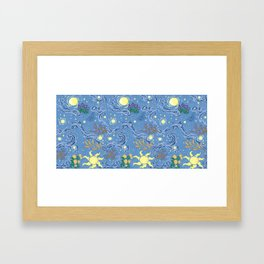 golden fields Framed Art Print