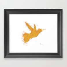 Bird Fly No. 1  (orange) Framed Art Print