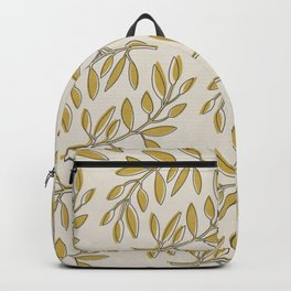 Leaves in Yellow and Cream Backpack