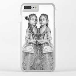 Sisters Twins Clear iPhone Case