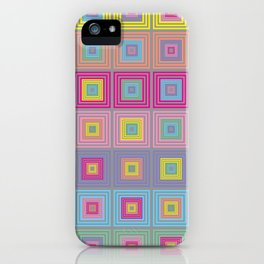 Colorful Squares Gray iPhone Case