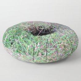 Watercolor Nest, Hole 04, Heimaey, Iceland Floor Pillow