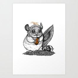 a little chinchilla Art Print
