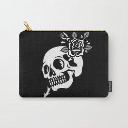 Tattoos style skull and flower Carry-All Pouch