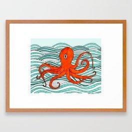 The Orange Octopus Framed Art Print
