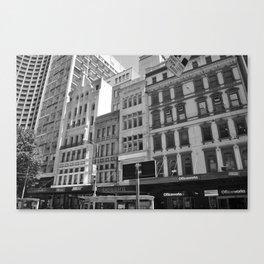 Melbourne monochrome xvi Canvas Print