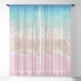 PINK SAND Sheer Curtain