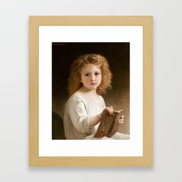The Story Book by William-Adolphe Bouguereau, 1877 Framed Art Print