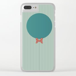 Papillon Hipster Baloon Clear iPhone Case