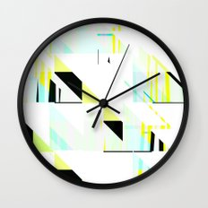 black&neon / triangle Wall Clock