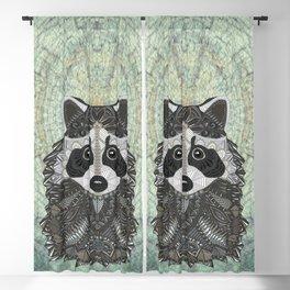 Ornate Raccoon Blackout Curtain