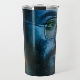 Asian Dude with Glasses Travel Mug