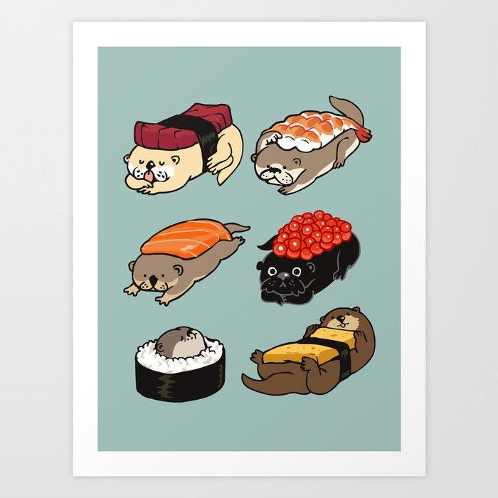 Sushi Otter Kunstdrucke