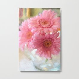 To Be Yourself - Flower Art Metal Print