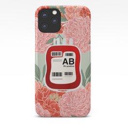 Floral AB Positive iPhone Case