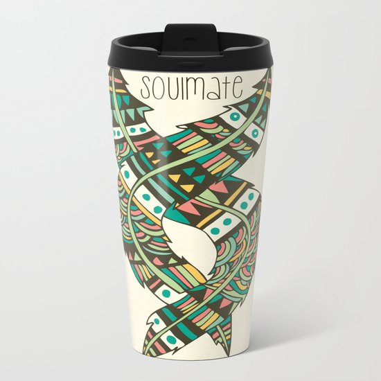 Soulmate Feathers Metal Travel Mug