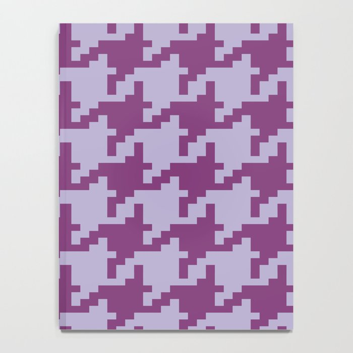 Houndstooth - Purple Notebook