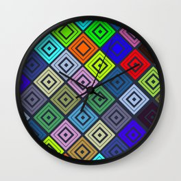 Modern Multicolor Patterns Wall Clock
