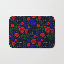 Touch Me And You Die - A Floral Pattern Bath Mat